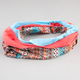 FULL TILT 3 Piece Ethnic/Coral/Turquoise Headbands