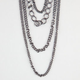 FULL TILT 4 Strand Chain Necklace