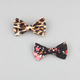 FULL TILT 2 Pack Floral/Leopard Bow Hair Clips