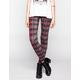 FULL TILT Plaid Print Womens Leggings