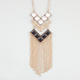 FULL TILT Chevron Stone Fringe Necklace