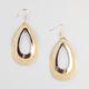 FULL TILT Open Glitter Teardrop Earrings