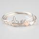 FULL TILT 3 Piece Heart/Love Wire Bangles