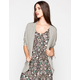FULL TILT Essential Stripe Womens Cocoon Cardigan