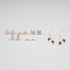 FULL TILT 6 Pairs Love/Peace/Cross Earrings