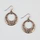 FULL TILT Ox Disc Earrings