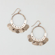 FULL TILT Coin/Cord Hoop Earrings