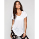 BOZZOLO Womens Basic Scoop Tee