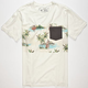 RIP CURL The Buttons Custom Mens Pocket Tee