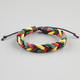 BLUE CROWN Rasta Braided Bracelet