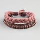 BLUE CROWN 3 Row Bead/Cord Bracelet