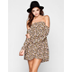 ALI & KRIS Floral Print Womens Bell Sleeve Cold Shoulder Dress