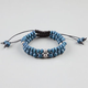 BLUE CROWN 2 Pack Blue Beaded Bracelets