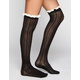 FULL TILT Lace Top Womens Knee High Socks