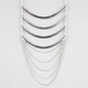 FULL TILT 8 Row Curve Bar Chain Necklace