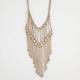 FULL TILT Bar & Chain Fringe Necklace