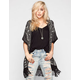 FULL TILT Linear Fringe Womens Cardigan