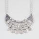FULL TILT Crescent Disc Bib Necklace