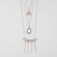 FULL TILT Layered Disc Tear Drop Necklace