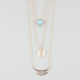 FULL TILT Layered Triangle/Disc/Bar Necklace