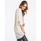 FULL TILT Open Stitch Womens Cocoon Sweater