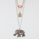 FULL TILT Disc/Stone/Elephant Necklace