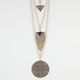 FULL TILT Layered Triangle/Disc Necklace