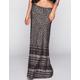 FULL TILT Ethnic Border Print Maxi Skirt