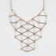 FULL TILT Statement Lattice Bar Necklace
