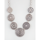 FULL TILT Etched Disc Necklace