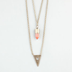 FULL TILT Hi Low Triangle/Stone Necklace