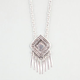 FULL TILT Etched Medallion Spike Necklace
