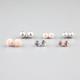 FULL TILT 6 Pairs Flower/Pearl/Crystal Earrings
