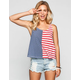 FULL TILT Split Stars & Stripes Womens Tank