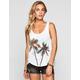 FULL TILT Palm Womens Lace Inset Tank