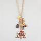 FULL TILT Ethnic Elephant/Horn Charm Necklace