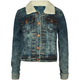 HIGHWAY Sherpa Collar Girls Denim Jacket