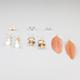 FULL TILT 6 Pairs Feather/Bead Earrings