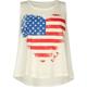 FULL TILT Americana Heart Girls Muscle Tank
