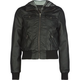FULL TILT Plaid Hood Girls Faux Leather Bomber Jacket