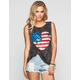 FULL TILT American Heart Womens Muscle Tee