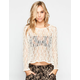 FULL TILT Open Weave Womens Top
