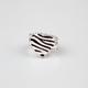 FULL TILT Zebra Heart Ring