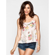 FULL TILT Floral Print Lace Inset Womens Babydoll
