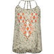 FULL TILT Embroidered Floral Print Girls Chiffon Tank