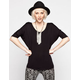FULL TILT Essential Womens Elbow Sleeve V-Neck Tunic