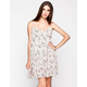 CHLOE K Ditsy Floral Print Crochet Dress