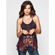 FULL TILT Tapestry Print Womens T-Back Tank