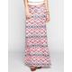 FULL TILT Ethnic Water Color Print Maxi Skirt