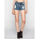ALMOST FAMOUS Crave Fame Womens Acid Wash High Rise Denim Shorts